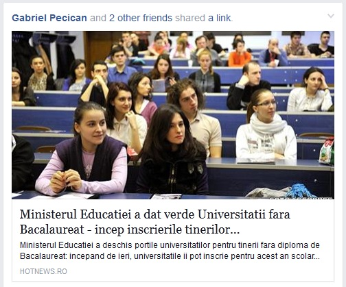 universitatea fara bac - o dezinformare