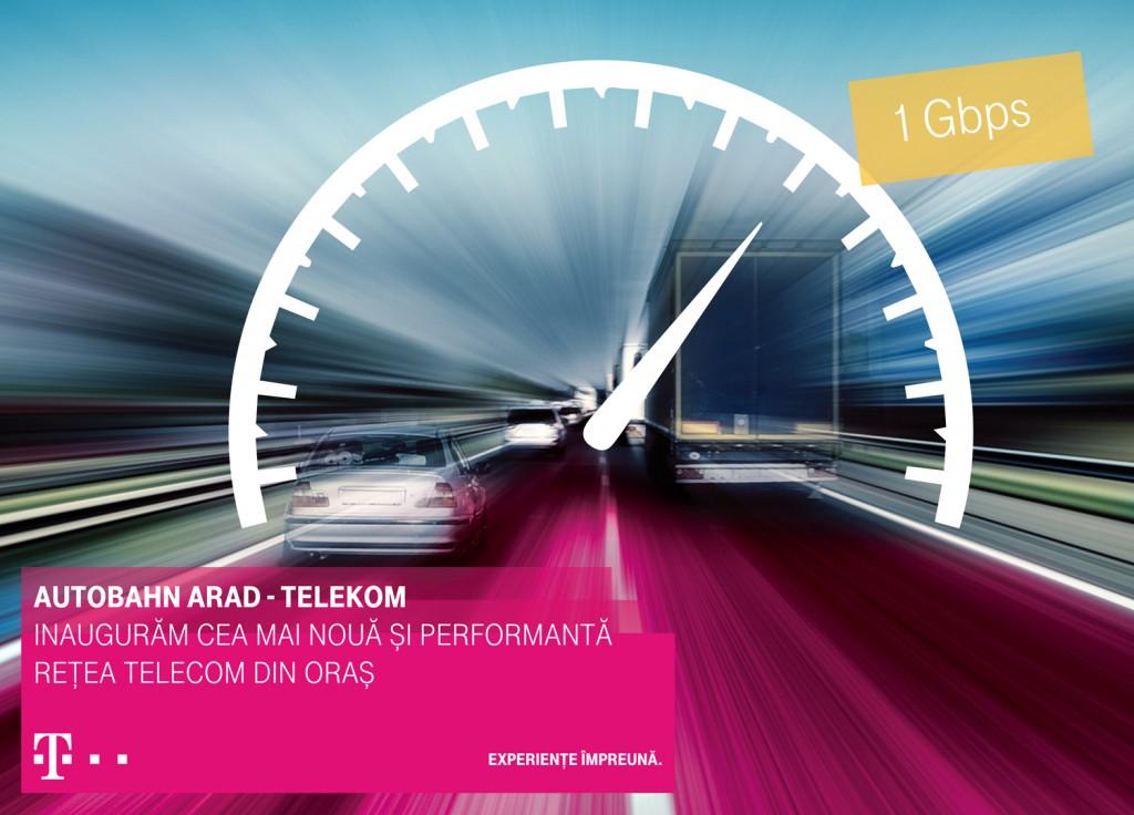Autostrada tehnologica Autobahn Arad - Telekom landscape